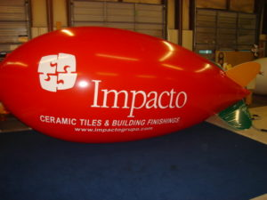 red color custom helium advertising blimps