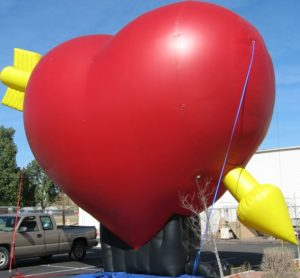 heart shape custom cold-air advertising inflatable